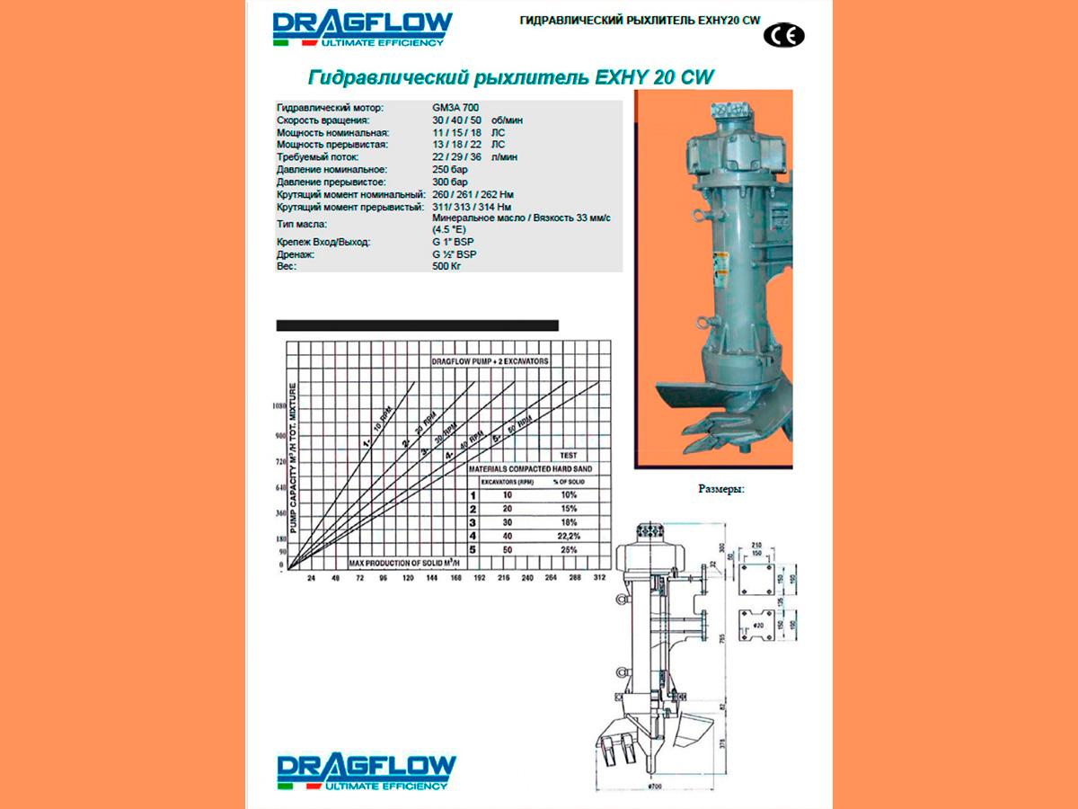 Рыхлитель DRAGFLOW EXHY20 c гидравлическим приводом