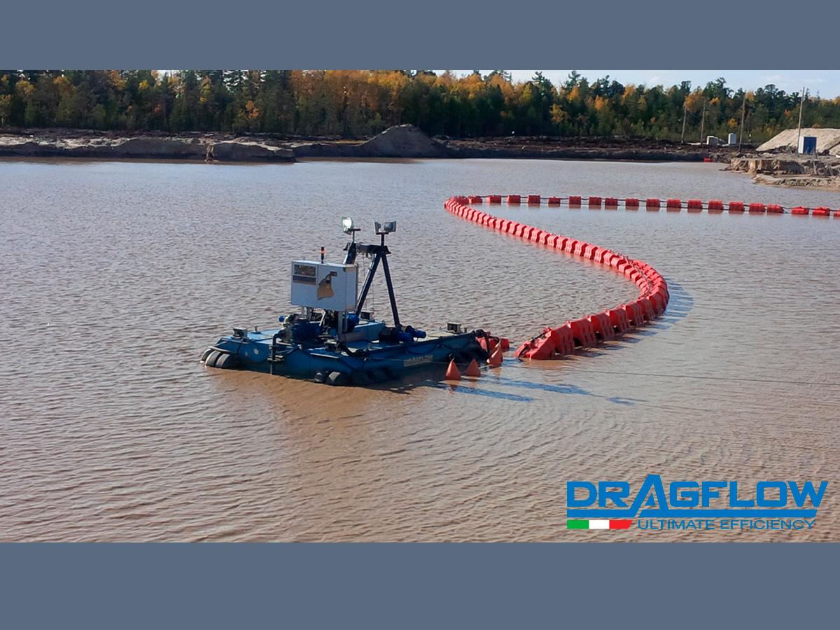 Земснаряд серии DRAGFLOW DRP cо шламовым грунтовым насосом  DRAGFLOW EL1204HC