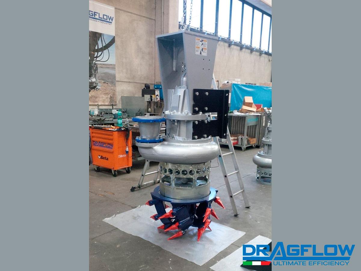 Дноуглубительный грунтовый шламовый насос DRAGFLOW HY85/160B + DTM (рыхлитель)
