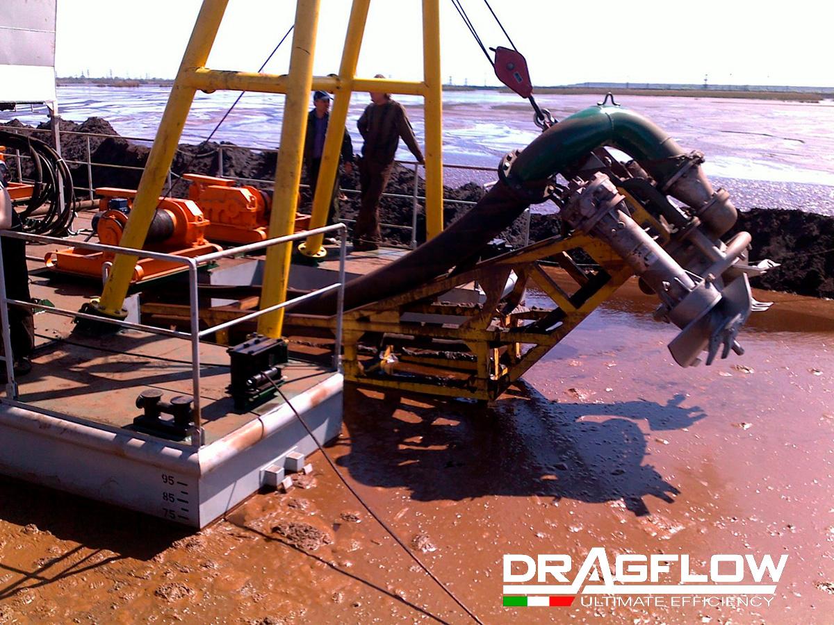 Земснаряд серии DRS c дноуглубительным грунтовым шламовым насосом DRAGFLOW HY85/160B + 2EXHY20