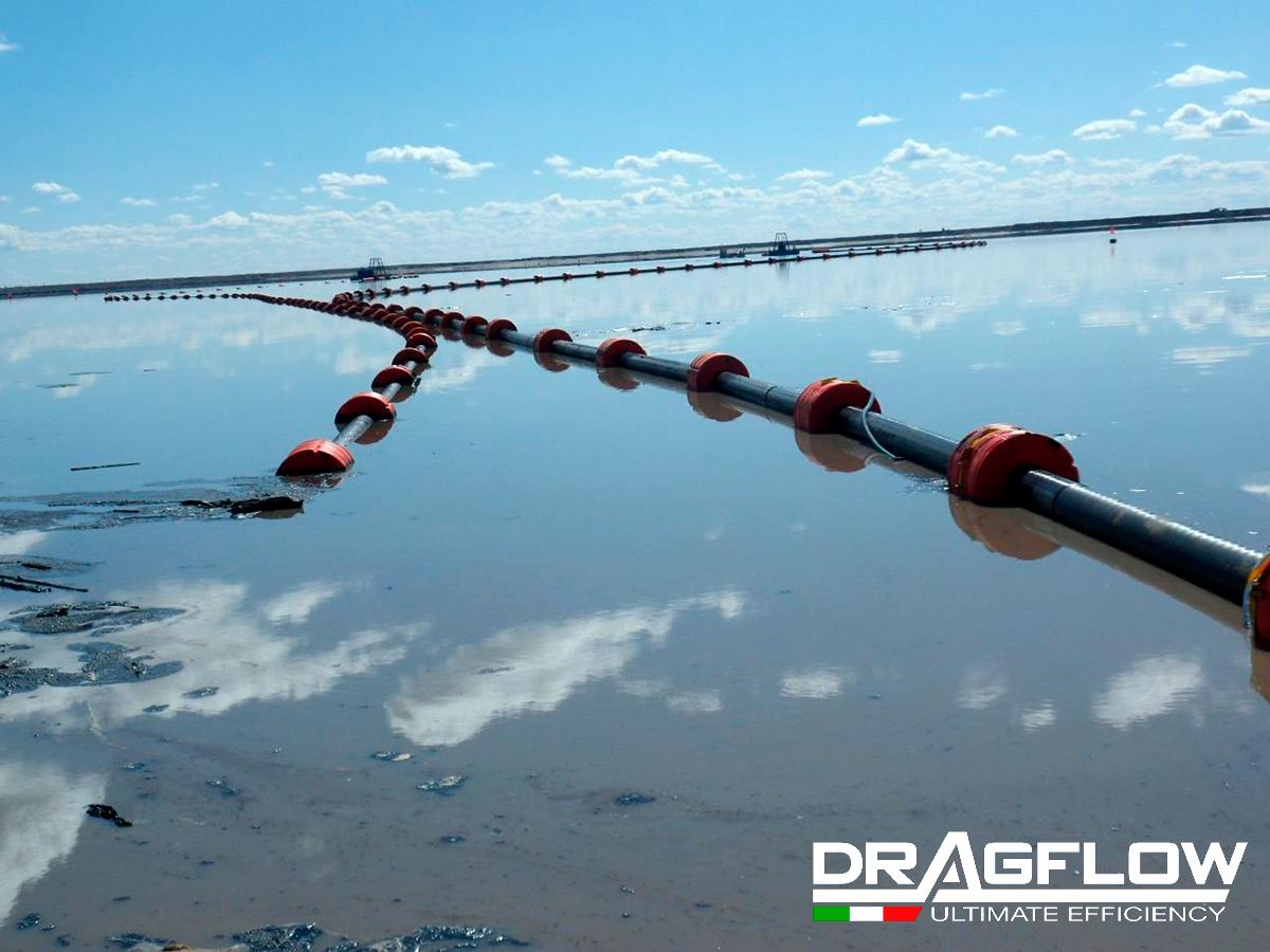 Земснаряд серии DRH c дноуглубительным шламовым грунтовым насосом DRAGFLOW HY300B + 2EXHY35