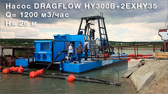 Насос DRAGFLOW HY300B + 2EXHY35
