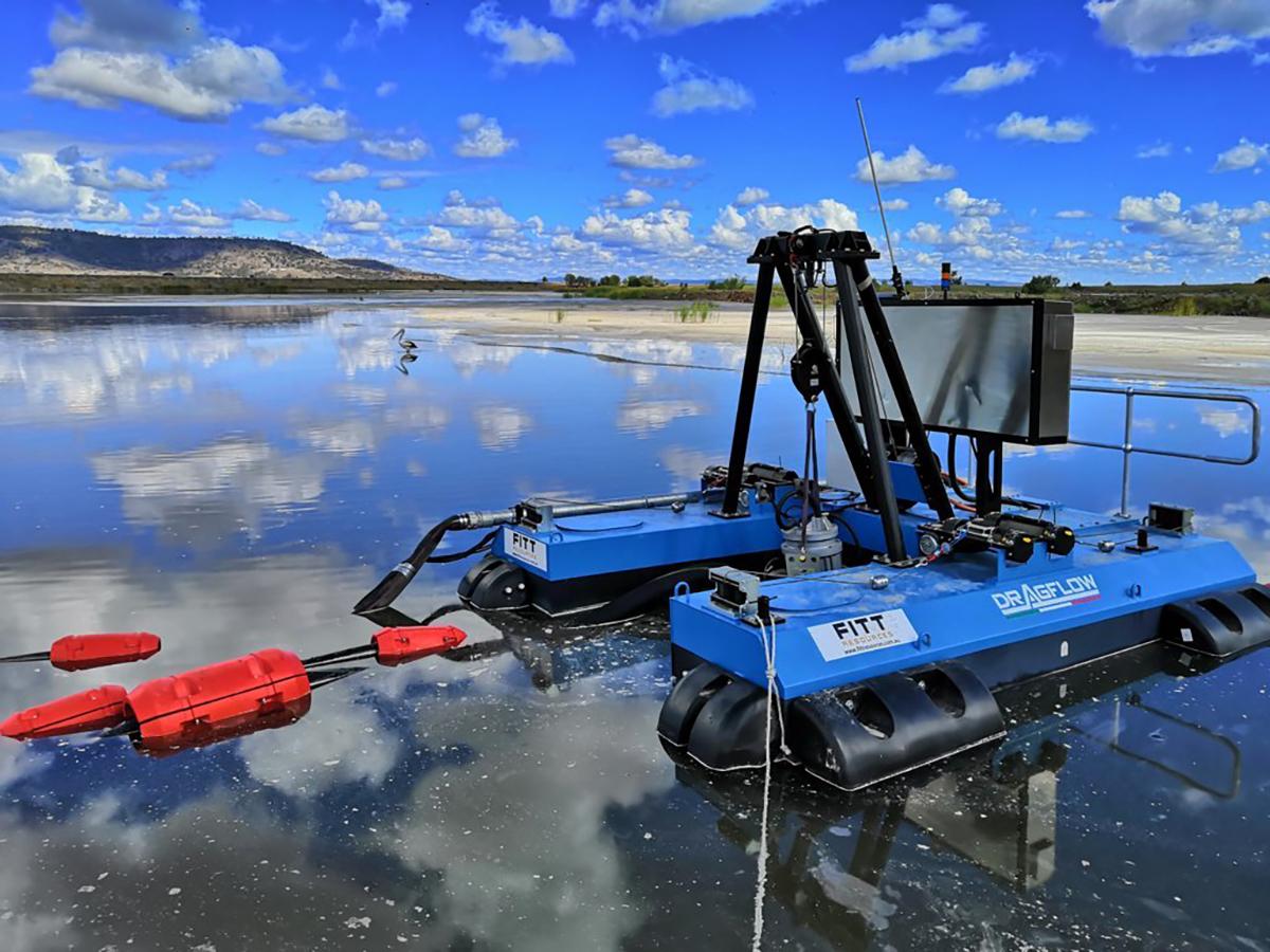 Мини земснаряд серии DRAGFLOW DRP с электрическим приводом и дистанционным управлением