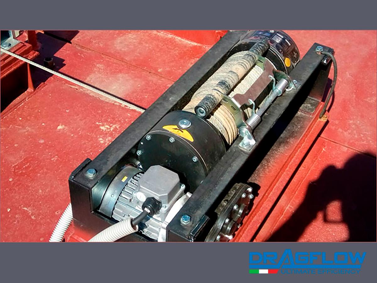 Земснаряд DRH c дноуглубительным грунтовым шламовым насосом DRAGFLOW EL60B c электрическим приводом