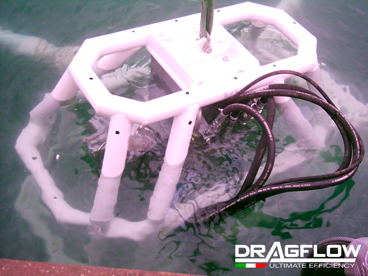 Погружной грунтовый насос DRAGFLOW HY35B с двумя рыхлителями EXHY20